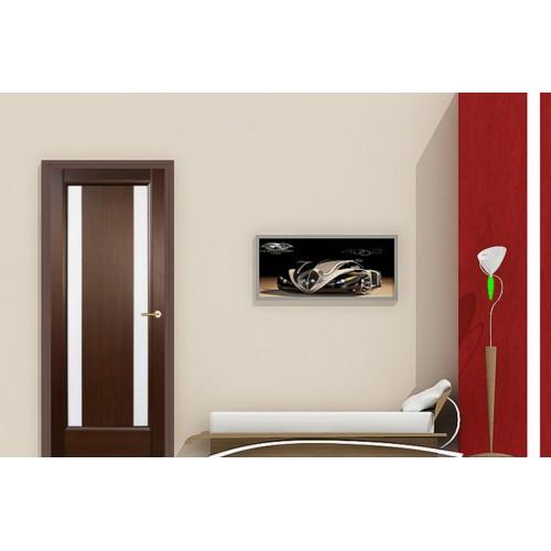 Ville Stella Wenge Wood Veneer Modern Interior Door With Glass
