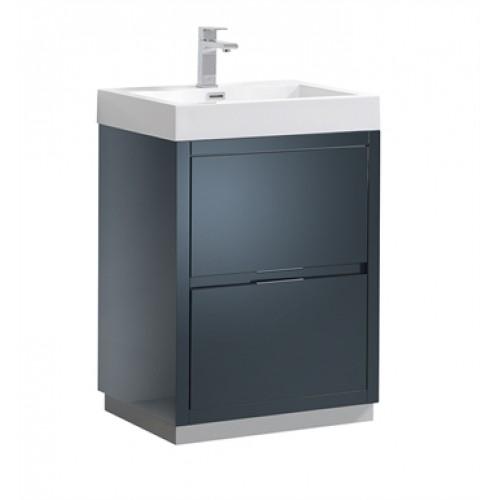 Fresca FCBGGI Valencia Dark Slate Gray Free Standing Modern - Modern free standing bathroom vanities