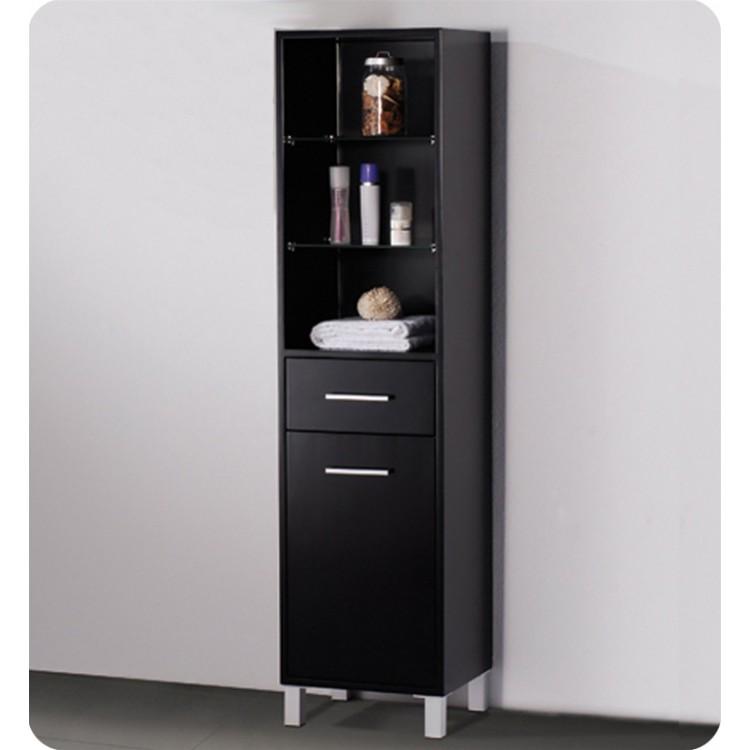 stunning Linen Side Cabinet Part - 4: Fresca FST1004ES Espresso Bathroom Linen Side Cabinet with 3 Open Shelves