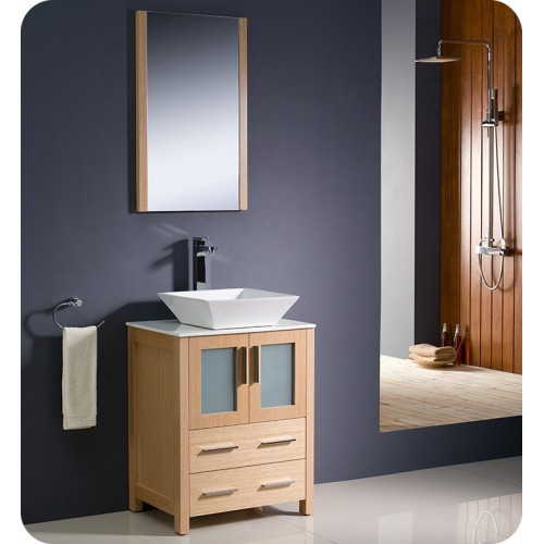 Fresca FVNLOVSL Torino Modern Bathroom Vanity With Vessel - 24 contemporary bathroom vanity