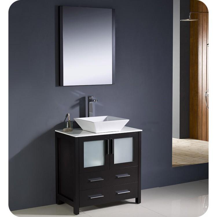 Fresca Fvn6236es Vsl Torino 36 Modern Bathroom Vanity With Vessel Sink In Espresso