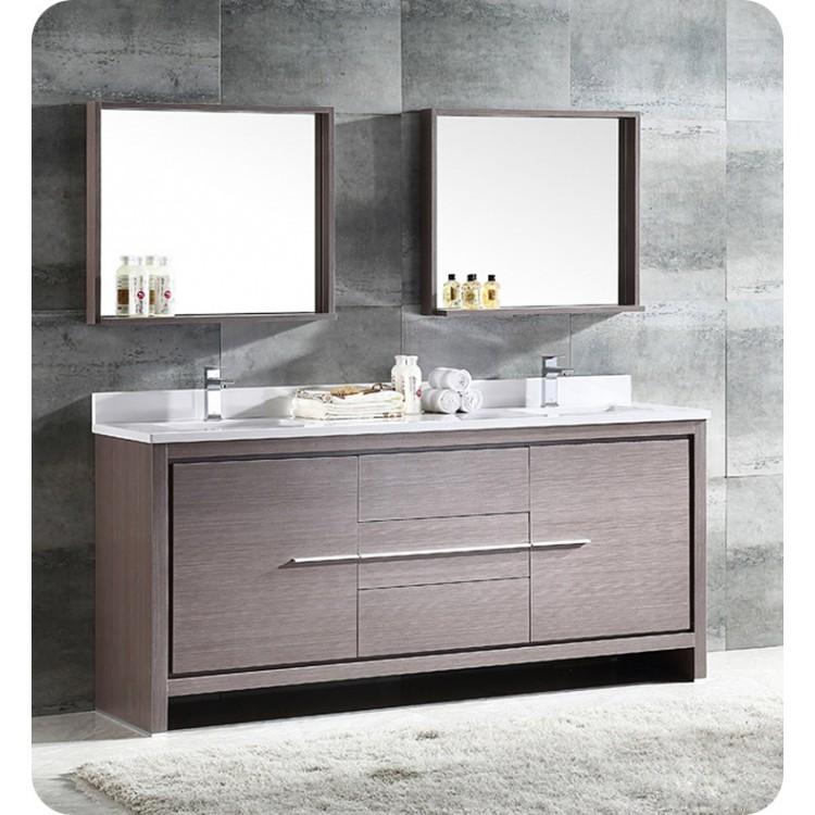 Awesome Fresca Fvn8172Go Allier 72 Double Sink Modern Bathroom Vanity In Gray Oak Interior Design Ideas Inesswwsoteloinfo