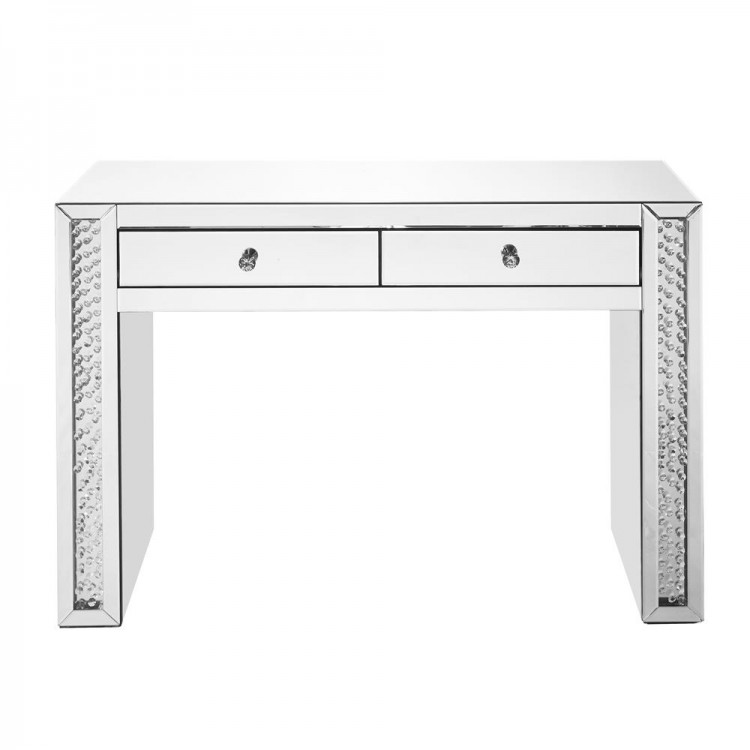 low priced 453f0 c952e Elegant Decor MF91017 Modern 47 inch Rectangle Crystal Vanity Table in  Clear Mirror Finish