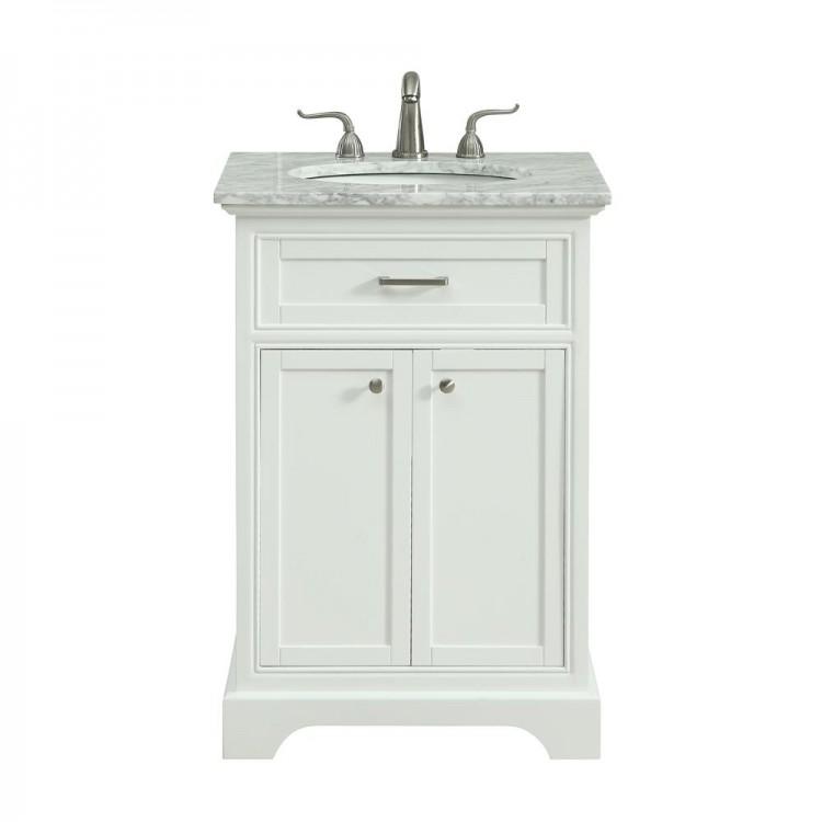 Elegant Decor VF15024WH Americana 24 in. Single Bathroom Vanity set in White