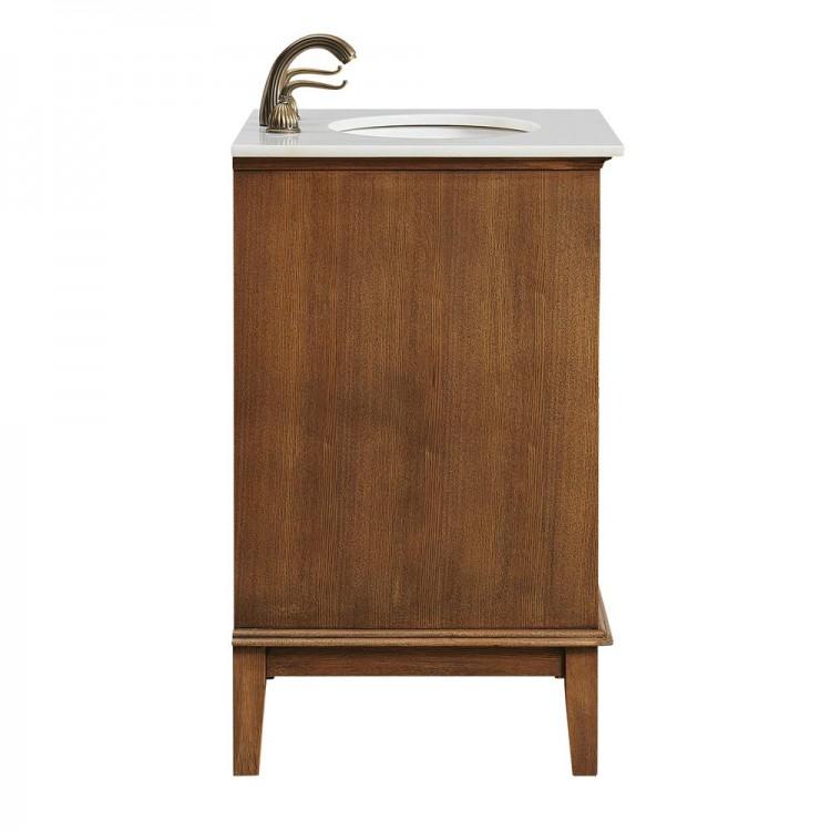 Elegant Lighting Vf30124cw Sutton 24 In Single Bathroom Vanity Set Chestnut Wood