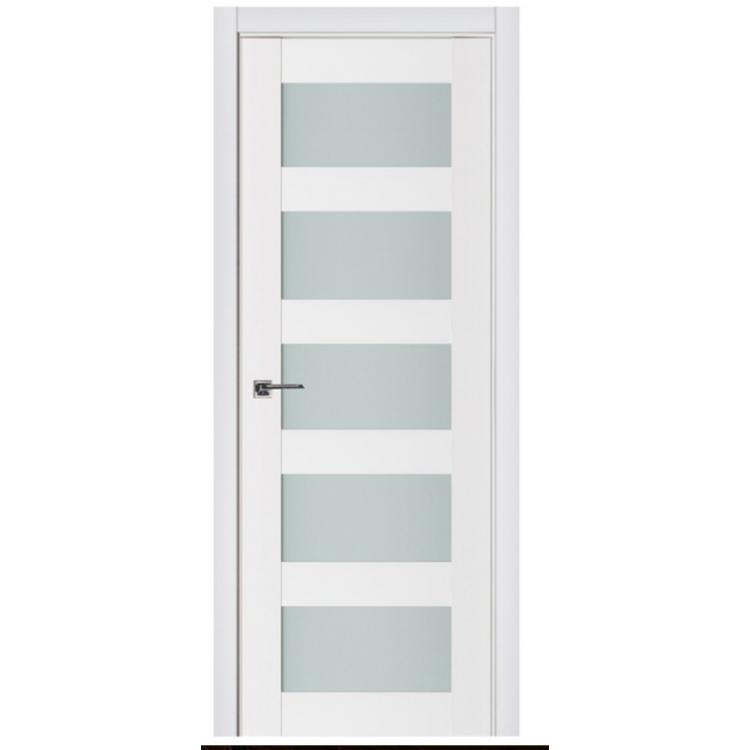 Nova Triplex 022 White Wood Lacquered Modern Interior Door