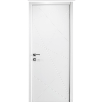 Nova HM-419 Pure White Laminated Modern Interior Door & Interior Doors