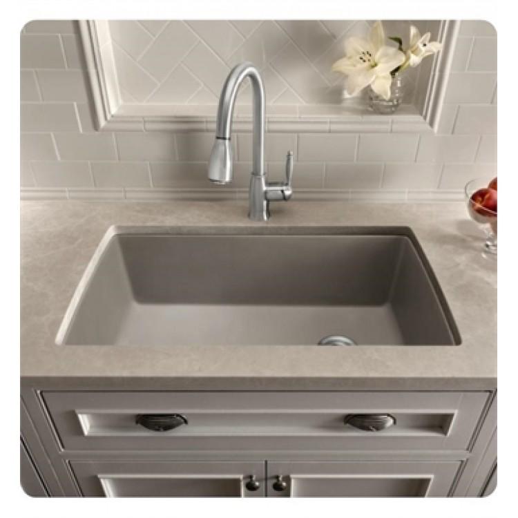 Blanco 440193 Diamond 32 1 2 Single Bowl Undermount Silgranit Kitchen Sink In Metallic Gray