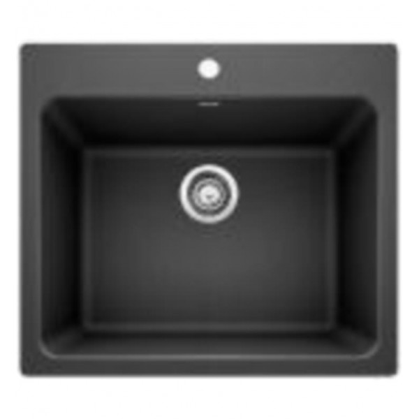 Undermount kitchen sinks blanco 401920 liven 25 single bowl drop inundermount laundry silgranit kitchen sink in workwithnaturefo