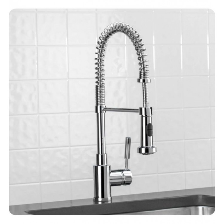 Blanco 441753 Meridian Semi Professional 1.5 GPM Single Handle Kitchen  Faucet with Pulldown Spray in Chrome