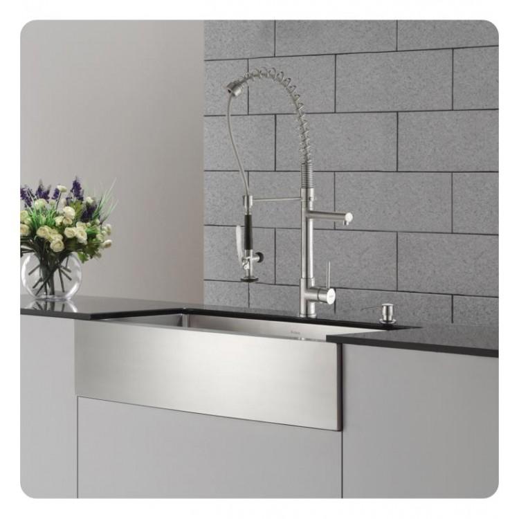 Kraus Khf200 36 Kpf1602 Ksd30 35 7 8 Single Bowl Farmhouse Stainless Steel Kitchen Sink With