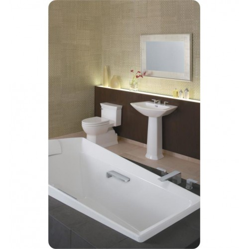 TOTO MS964214CEF Eco Soiree One Piece Elongated Bowl With SoftClose Seat  And 1.28 GPF Single Flush